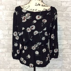 Anthro Deletta Wished Blooms Floral Layered Top Sm